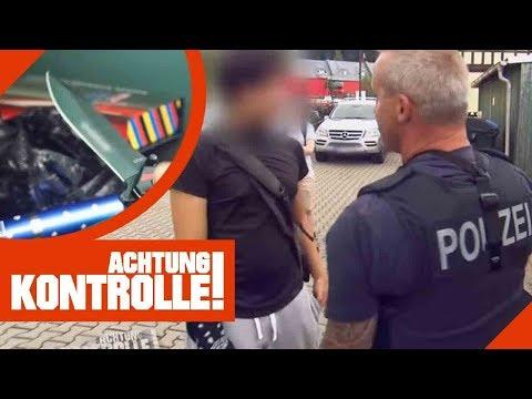 Jugendliche mit Messer & Elekroschocker! Grenzkontrolle der Polizei!    Achtung Kontrolle