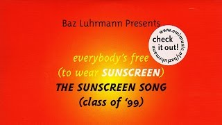 Baz Luhrmann - Everybody's Free To Wear Sunscreen (English Subtitles)(To download