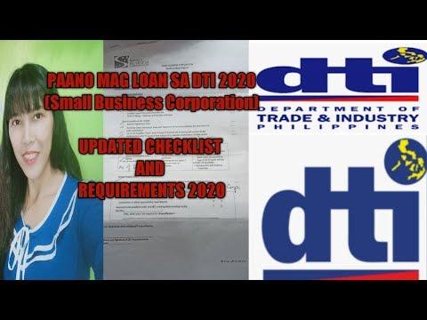 PAANO MAG LOAN SA DTI 2020 (SMALL BUSINESS CORPORATION) /DTI LOAN REQUIREMENTS 2020