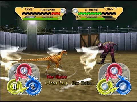 Dinosaur King Arcade Game 恐竜キング - Fukuiraptor VS the Alpha Fortress [Final Battle]