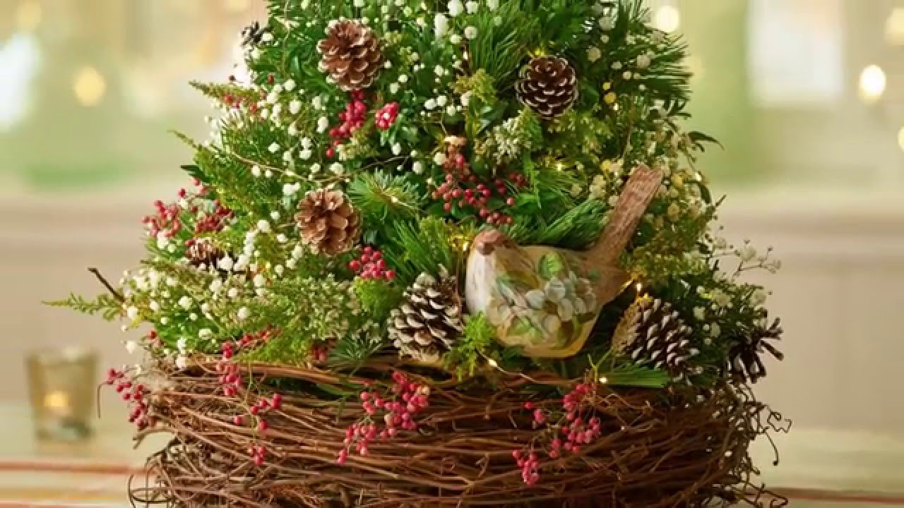 diy tabletop christmas tree youtube - Christmas Basket Decoration Ideas
