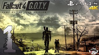 Fallout 4 - Gameplay Walktrough Part 1 No Commentary - War Never Changes (PS4 PRO)