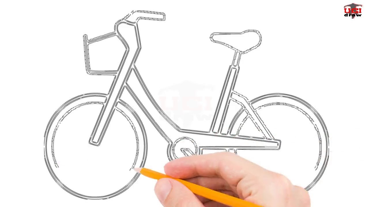 How To Draw A Bike Step By Step Easy For Beginners Kids Simple