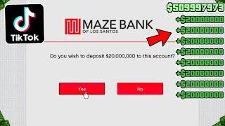 Testing Viral TikTok GTA 5 Online Money Glitches! (Part 3)
