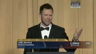 From C-SPAN coverage, Joel McHale remarks at the 2014 White House Correspondents' Dinner. Watch the complete video here: http://cs.pn/1kwvtlO.