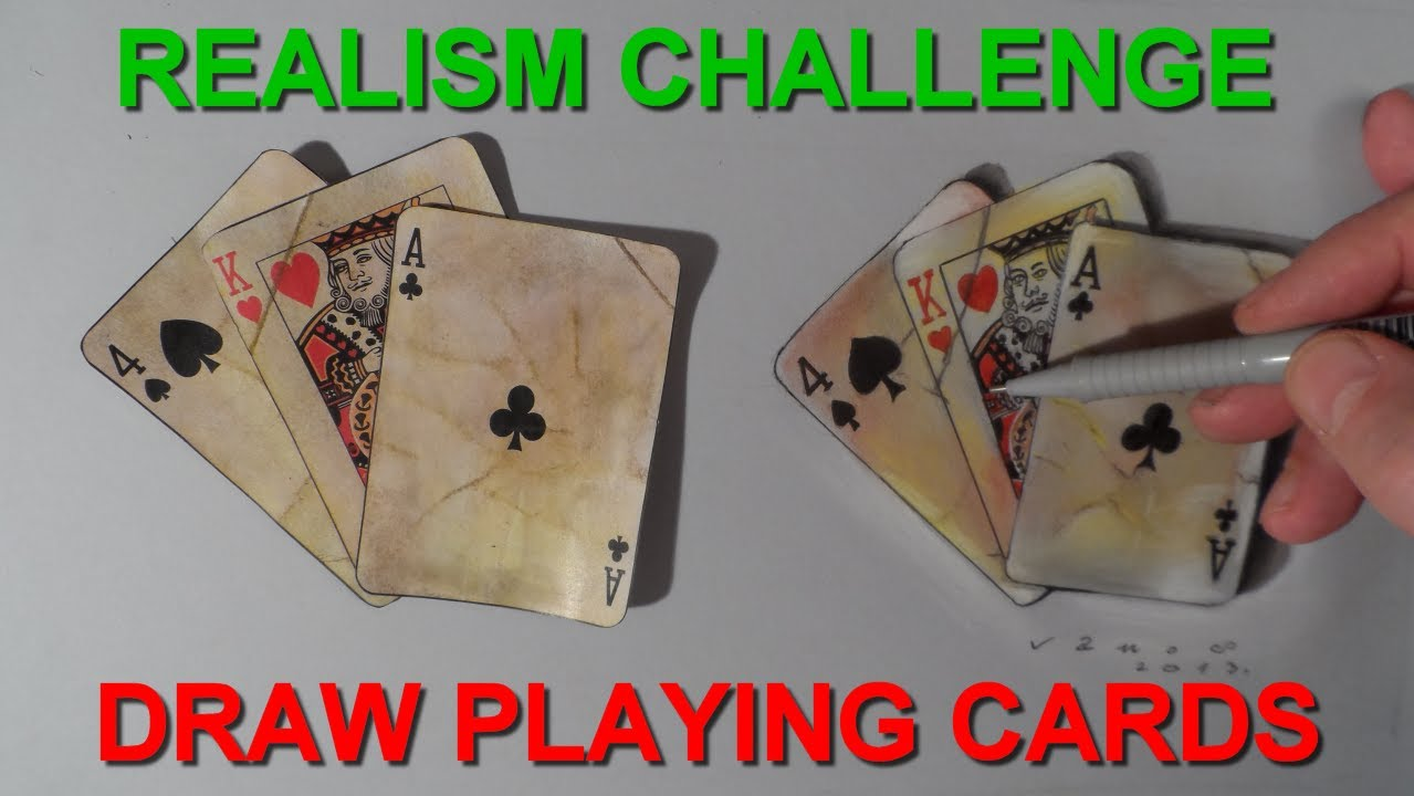 Realism Challenge 6 Drawing Old Playing Cards Time Lapse Youtube