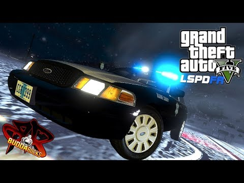Blizzard!◆LSPDFR GTA 5 Sheriff Patrol◆LivePD FORD CVPI◆Real Life Police Mods Video