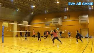 【男女混合バレーボール】All#33-5 EVA15点2ゲーム[Commentary]解説 Men and Women Mixed Volleyball JAPAN TOKYO