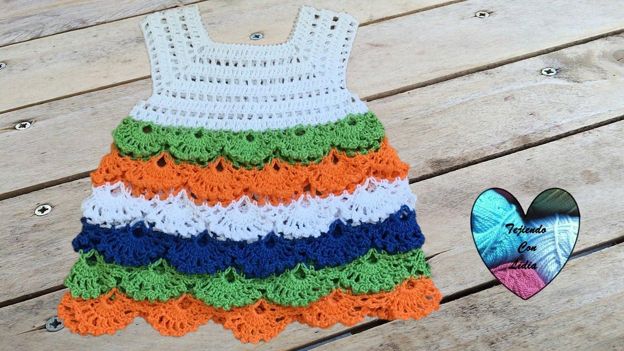 Bello Vestido Tejido A Crochet Todas Las Tallas Robe Crochet Toutes Les Tailles
