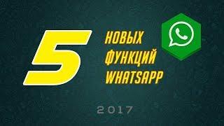 Самые новые и полезные функции Whatsapp 2017
