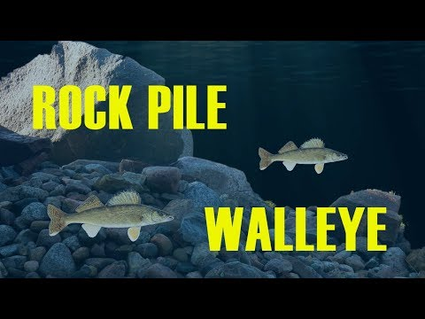 Ice Fishing Rock Pile WALLEYE On Devils Lake #walleye #icefishing