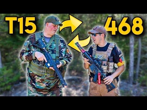 We Traded Our Magfed Paintball Guns - T15 Vs 468 - GoPro Paintball