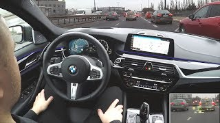 BMW 5 & 6 GT in a traffic jam. Active Cruise Control, Steering & Lane Control Assistant ::1001cars