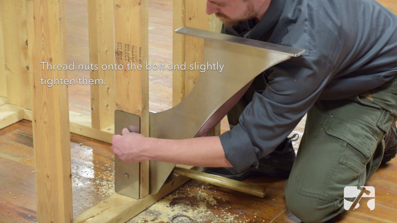 HOW TO: Foss Shower Bench Bracket Installation