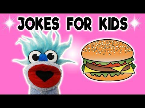 BURGER JOKE! FUNNY! - JOKES FOR KIDS! Hamburger! 100% Child-Appropriate Jokes! FUNNY! Sock Puppet!