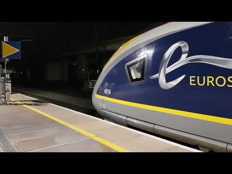 Eurostar 374 014 + 013 Departing Ebbsfleet On Train 9163
