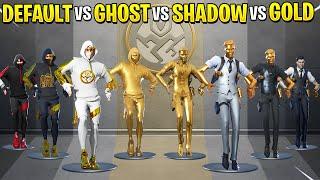 Fortnite Dance Battle: Default vs Ghost vs Shadow vs Gold