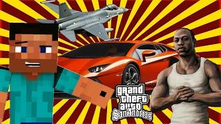 FULL GTA IN MCPE!!! - MCPE ADD-ON+MAP
