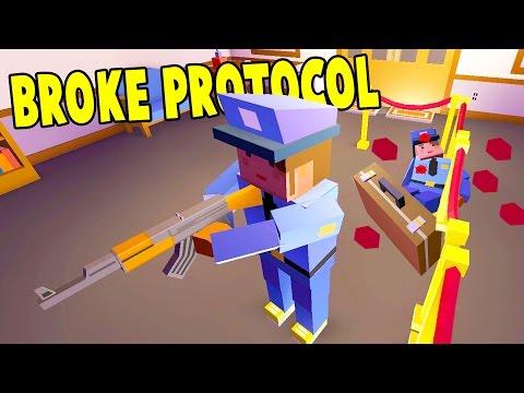 ROBBING THE BANK, MAKING DRUGS, BECOMING A DIRTY ROGUE COP! - Broke Protocol Alpha Free GTA Gameplay