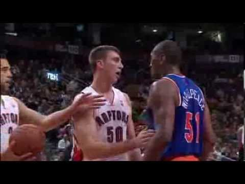 Tyler Hansbrough gets scared by Metta World Peace