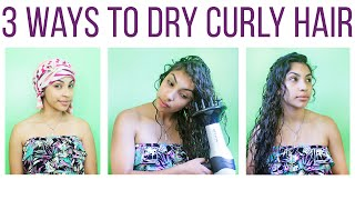 3 Ways To Dry Curly Hair