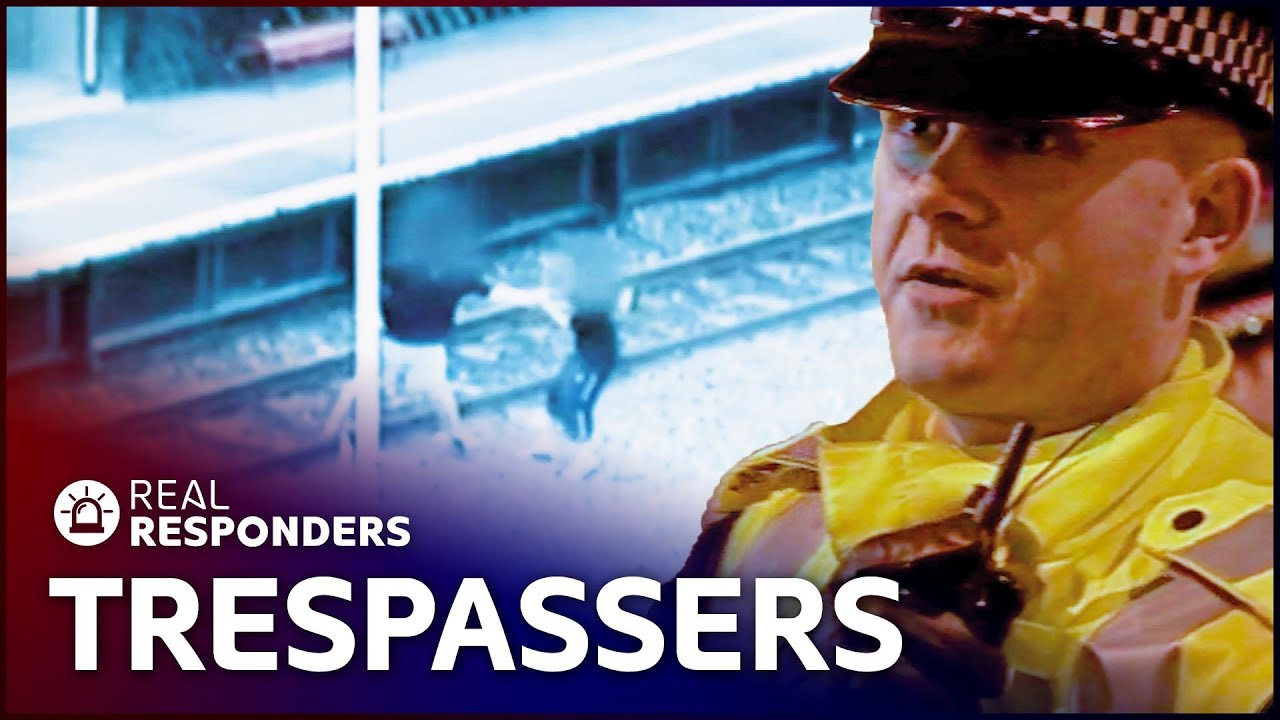 Police Helicopters Catch Railway Trespassers | CrimeFighters | Real Responders