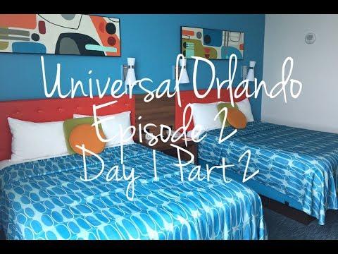 Episode 2 Cabana Bay Beach Resort, Universal City Walk: Universal Orlando Sept 2016