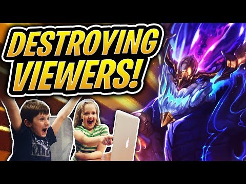 DESTROYING MY VIEWERS IN TFT! | 6 Sorcerers Showdown | Teamfight Tactics | LoL Auto Chess