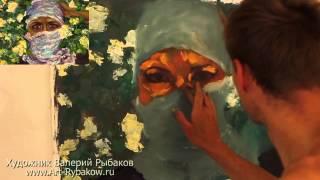 Полный видеоурок: Как рисовать весенний портрет. Урок живописи маслом.