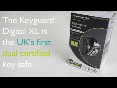 Burton keyguard digital key safe | push button.