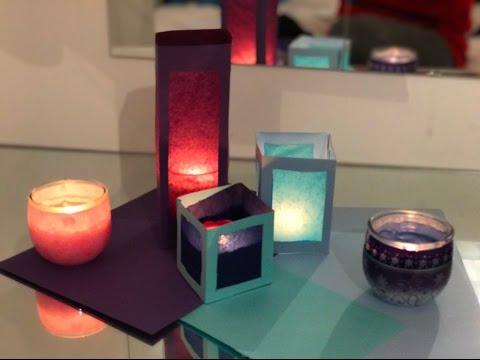 Modern DIY Tissue Paper Lanterns | How to Make a Paper-cut Light Box : DIY | Room decor 2017