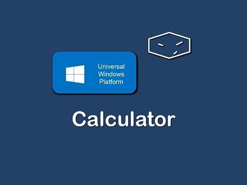 windows 10 universal app calculator with c# and xaml