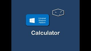 uwp calculator with c# and xaml