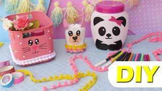 IDEIAS COM POTES de SORVETE, SHAMPOO e CREME: Panda, Lhama e Gatinho  DO LIXO AO LUXO