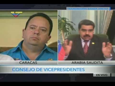 Maduro realiza videoconferencia y Consejo de Vicepresidentes Sociales, desde Arabia Saudita