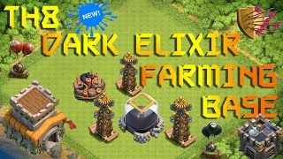 Clash of clans - New Best Th8 Dark Elixir Farming 2016 !! (100% DE Protection)