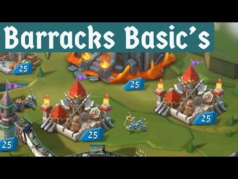 Lords Mobile Barrack Basics
