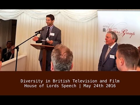 Diversity in British TV: Speech at the House of Lords