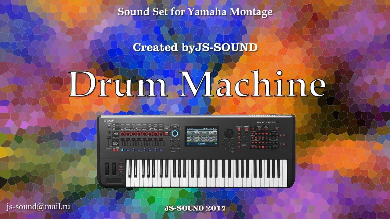 Yamaha Montage JS-SOUND Drum Machine Kit