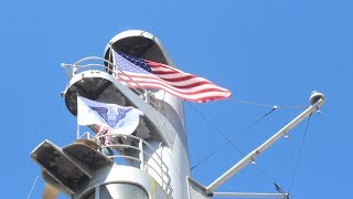 House Flag Raising aboard the SS United States