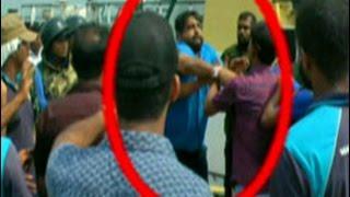 Journalist attacked during tense situation at Hambantota Port