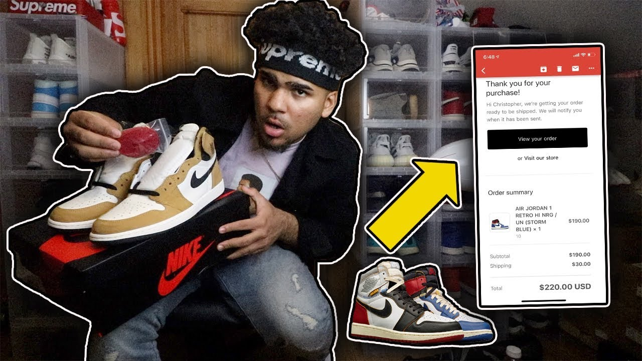 6463d9e5558e8c Picking up the Union and Rookie of the Year Jordan 1s for RETAIL ...