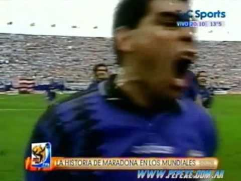 Incredible Argentina action and goal by Diego Maradona vs Greece (World Cup 1994)