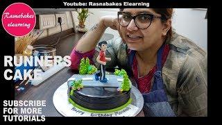 How to make Marathon Runner cake design:fitness Cake decorating ideas:happy birthday cake pics