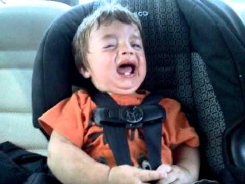 Toddler Throwing Tantrum In Car Seat
