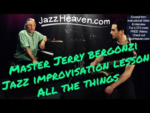 *All the Things You Are* Jazz Standard: Jerry Bergonzi Jazz Improvisation Lesson JAZZHEAVEN.com
