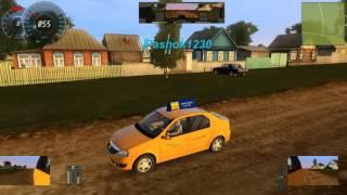 """Опасное Вождение или Игра в """"Шашки"""" на Renault Logan Taxi в 3D Инструктор"""