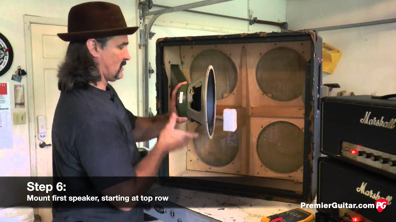 diy how to install speakers in a 4x12 cab part 1 [ 1280 x 720 Pixel ]