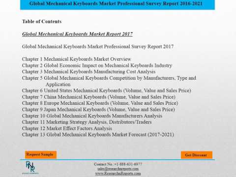 Global Mechanical Keyboards Market Research Report Forecast 2017 2021