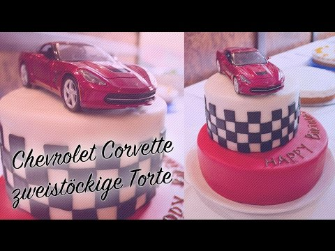 Chevrolet Torte - REZEPT Und TUTORIAL - Zweistöckige Torte Mit Fondant Verzierung